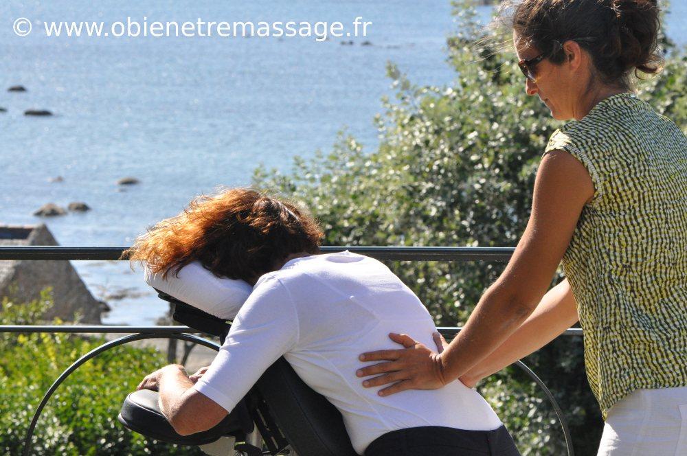 Ô bien-être massage Porspoder Brest Finistère Massage Assis en entreprise