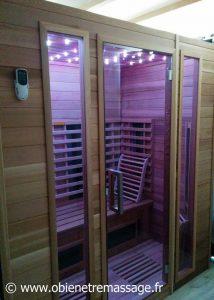 Séance de sauna infrarouge privative / Ô bien-être massage / Porspoder / Brest / Finsitère